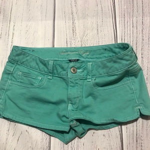 Teal American Eagle Jean Shorts